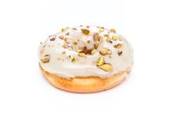 Heerlijke die Doughnut op Witte Achtergrond wordt geïsoleerd Royalty-vrije Stock Afbeelding