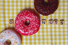 Heerlijke Donuts Royalty-vrije Stock Fotografie