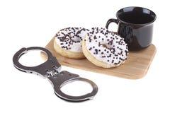Heerlijke donuts met koffie Stock Fotografie
