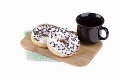 Heerlijke donuts met koffie Royalty-vrije Stock Foto