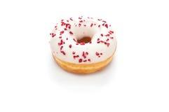 Heerlijke Doughnut die op Witte Achtergrond wordt geïsoleerd Stock Fotografie