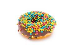 Heerlijke Doughnut die op Witte Achtergrond wordt geïsoleerd Stock Afbeeldingen