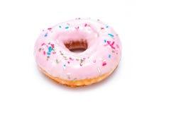 Heerlijke Doughnut die op Witte Achtergrond wordt geïsoleerd Royalty-vrije Stock Fotografie