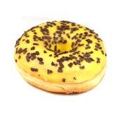 Heerlijke doughnut op witte achtergrond Royalty-vrije Stock Afbeeldingen