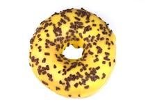 Heerlijke doughnut op witte achtergrond Stock Afbeelding