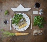 Heerlijke en gezonde apetizer Stock Afbeelding