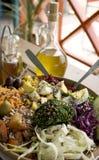 Heerlijke en gezonde salade Stock Afbeeldingen