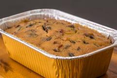Heerlijke fruitcake met gemengd fruit Royalty-vrije Stock Foto