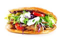 Heerlijke geïsoleerde kebabsandwich royalty-vrije stock afbeelding