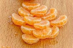 Heerlijke gele mandarijn stock afbeeldingen