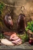 Heerlijke gerookte eigengemaakte gekookte ham royalty-vrije stock afbeeldingen
