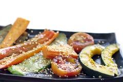 Heerlijke geroosterde groente stock foto's