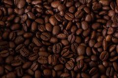 Heerlijke geroosterde koffieboontextuur stock afbeeldingen