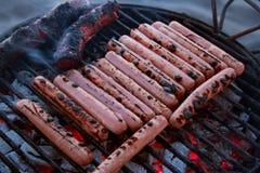 HEERLIJKE geroosterde worsten en chorizo 3 stock foto's