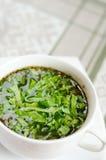 heerlijke groentesoep met zuring Stock Afbeelding