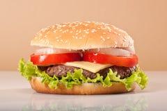 Heerlijke hamburger Stock Afbeeldingen