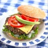 Heerlijke hamburger Stock Afbeelding