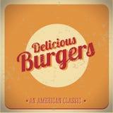 Heerlijke hamburger uitstekende Amerikaanse Schrijver uit de klassieke oudheid Royalty-vrije Stock Foto
