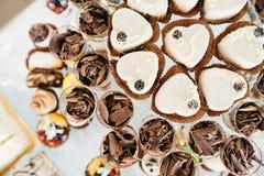 Heerlijke het suikergoedbar van de huwelijksontvangst Stock Afbeelding