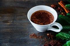 Heerlijke hete chocolade Stock Afbeeldingen