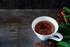 Heerlijke hete chocolade Royalty-vrije Stock Foto's