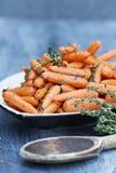 Heerlijke Honey Glazed Baby-wortelen Royalty-vrije Stock Afbeeldingen