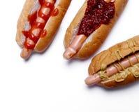 Heerlijke Hotdog Stock Afbeeldingen