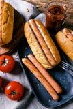 Heerlijke Hotdog Royalty-vrije Stock Afbeeldingen