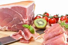 Heerlijke Italiaanse ham Royalty-vrije Stock Foto