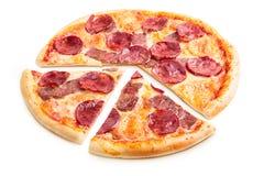 Heerlijke Italiaanse pizza Royalty-vrije Stock Foto