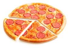 Heerlijke Italiaanse pizza Stock Afbeeldingen