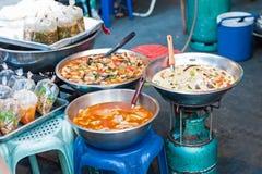 Heerlijke kerrie in Thaise markt Royalty-vrije Stock Afbeelding