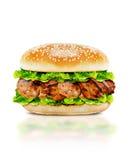 Heerlijke kippenhamburger Royalty-vrije Stock Foto's