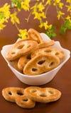 Heerlijke koekjes op een witte plaat Royalty-vrije Stock Foto's