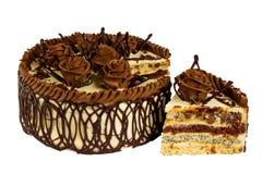Heerlijke koekjescake met chocolade Royalty-vrije Stock Foto's
