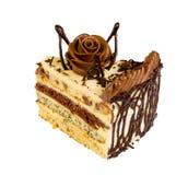 Heerlijke koekjescake met chocolade Stock Fotografie