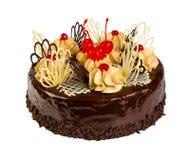 Heerlijke koekjescake met chocolade Royalty-vrije Stock Afbeeldingen