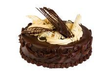 Heerlijke koekjescake met chocolade Stock Foto's