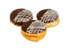 Heerlijke koekjescake met chocolade Royalty-vrije Stock Fotografie