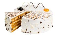 Heerlijke koekjescake met gedroogde pruimen Royalty-vrije Stock Afbeeldingen