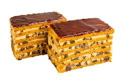 Heerlijke koekjescake met gedroogde pruimen Stock Fotografie