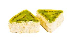 Heerlijke koekjescake met kiwi Royalty-vrije Stock Foto's