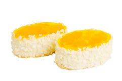 Heerlijke koekjescake met sinaasappel Royalty-vrije Stock Foto's