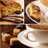 Heerlijke koffie. Collage stock afbeelding