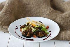 Heerlijke lever met aubergine Royalty-vrije Stock Foto