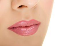 Heerlijke lippen Stock Foto's