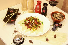 Heerlijke maaltijd door Chinese chef-kok Royalty-vrije Stock Foto