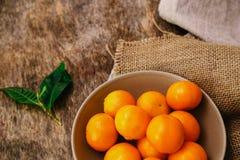 Heerlijke mandarin Stock Foto