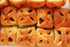 Heerlijke mini eigengemaakte appelcakes van hierboven Stock Fotografie