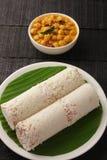 Heerlijke ontbijt puttu-zuid Indische cuisine- royalty-vrije stock afbeelding